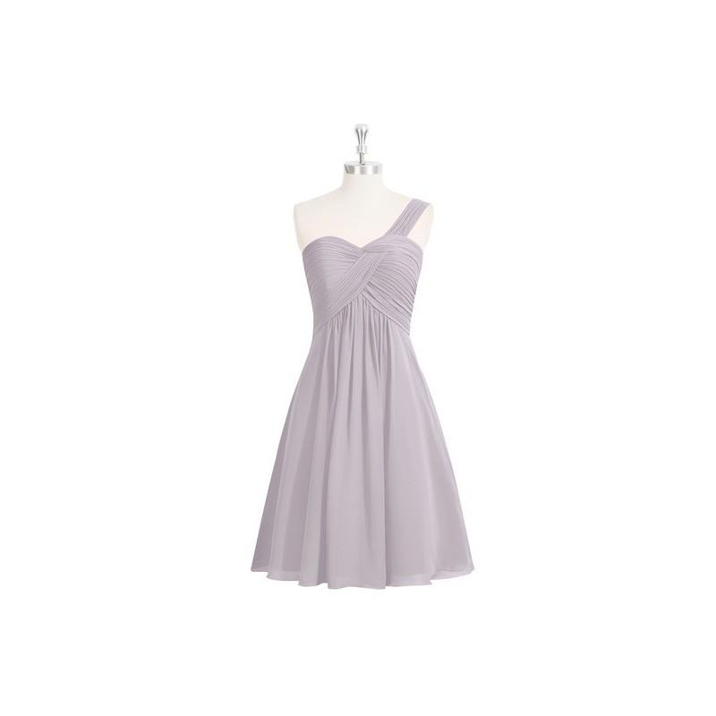 Wedding - Dusk Azazie Sariah - Strap Detail Chiffon Sweetheart Knee Length Dress - Charming Bridesmaids Store