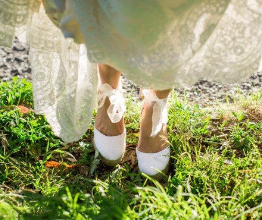 Audrey Platform Wedge Lace Up Espadrille Boho Style Wedding