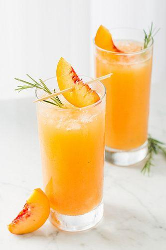 Wedding - Grilled Peach & Rosemary Prosecco