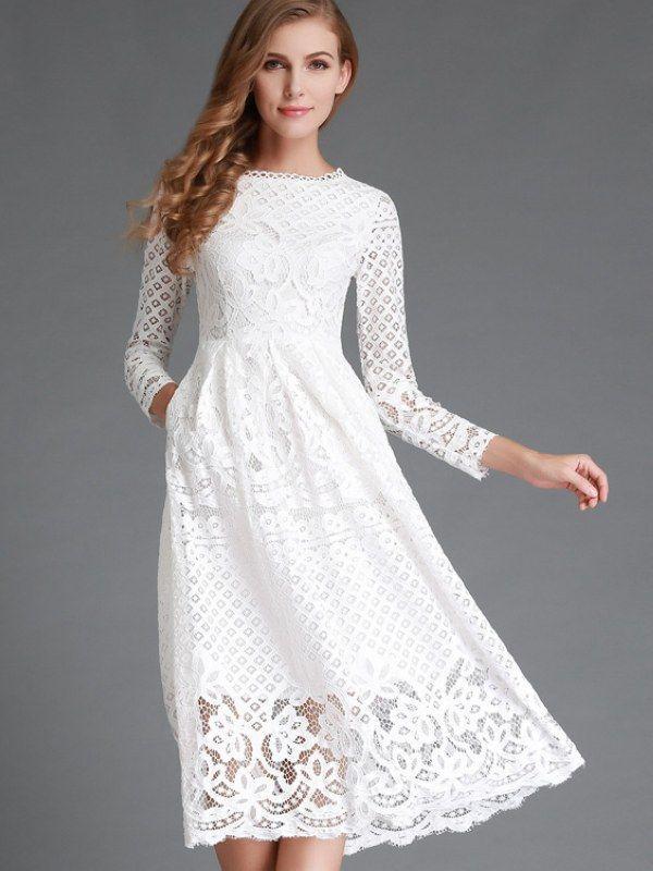 Hochzeit - Long Sleeve Dress