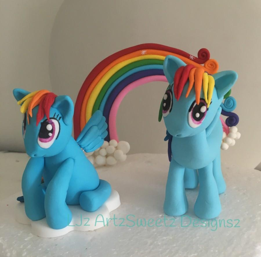 3d Edible Cake Topper Cute My Little Pony Pinkie Pie Rainbow Dash