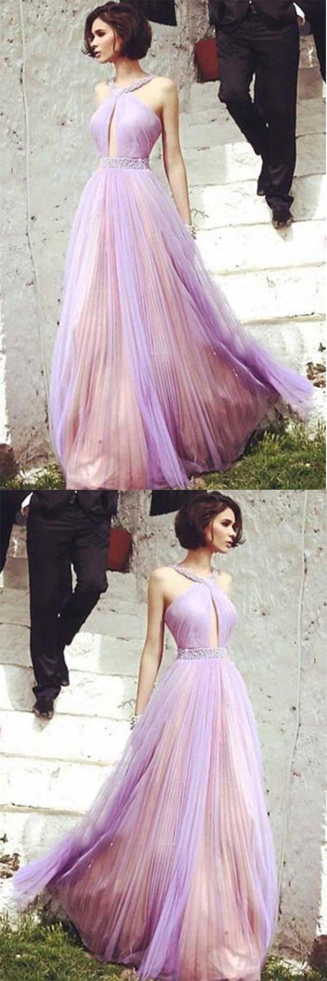Свадьба - Beautiful Floor-length A Line Tulle Prom Dress,Elegant Beading Evening Dress OK979
