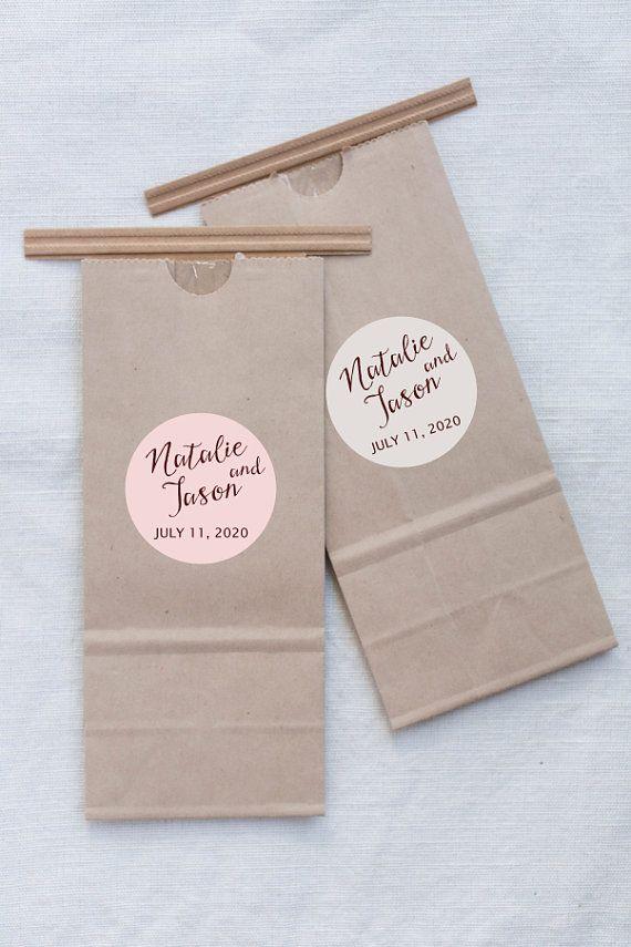 Wedding Favors Sticker, Custom Names, Wedding Stickers