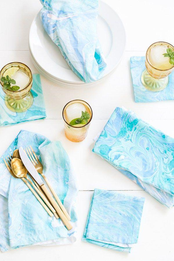 Wedding - DIY Fabric Marbling
