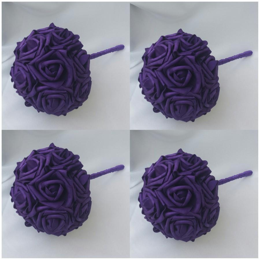 Mariage - Customize Bouquets Violet Bouquets Purple Bouquets Dark Purple Bouquets Violet Roses Violet Bridesmaids Bouquet Purple Purple Bridal Bouquet