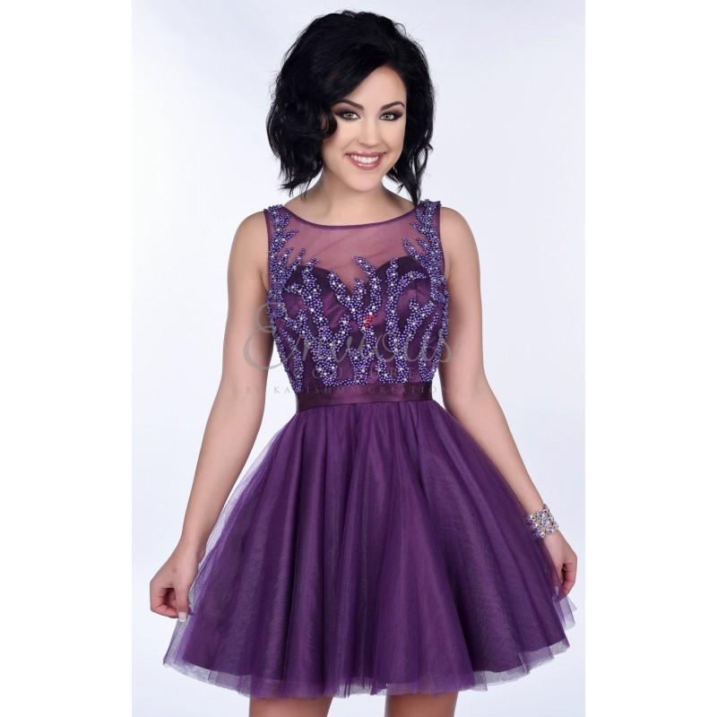 Mariage - Eggplant Beaded Tulle Dress by Envious Couture Prom - Color Your Classy Wardrobe
