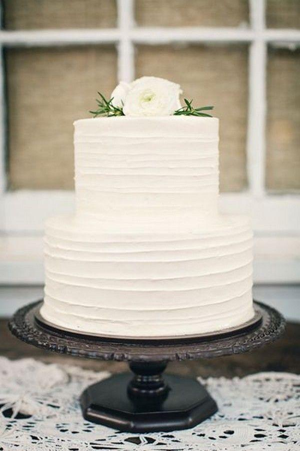 15 Simple But Elegant Wedding Cakes For 2018 2825862 Weddbook