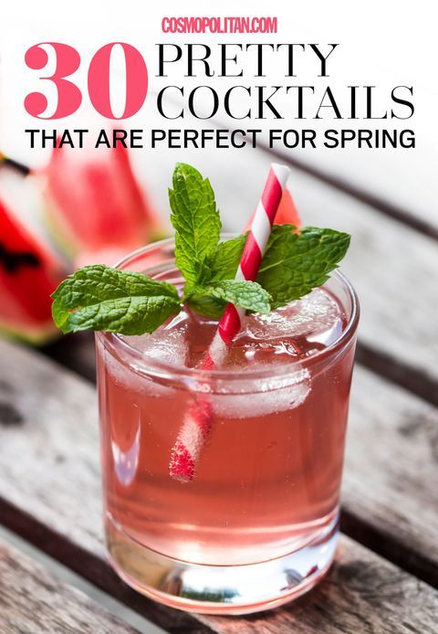 Hochzeit - 30 Pretty Cocktails That Are Perfect For Spring
