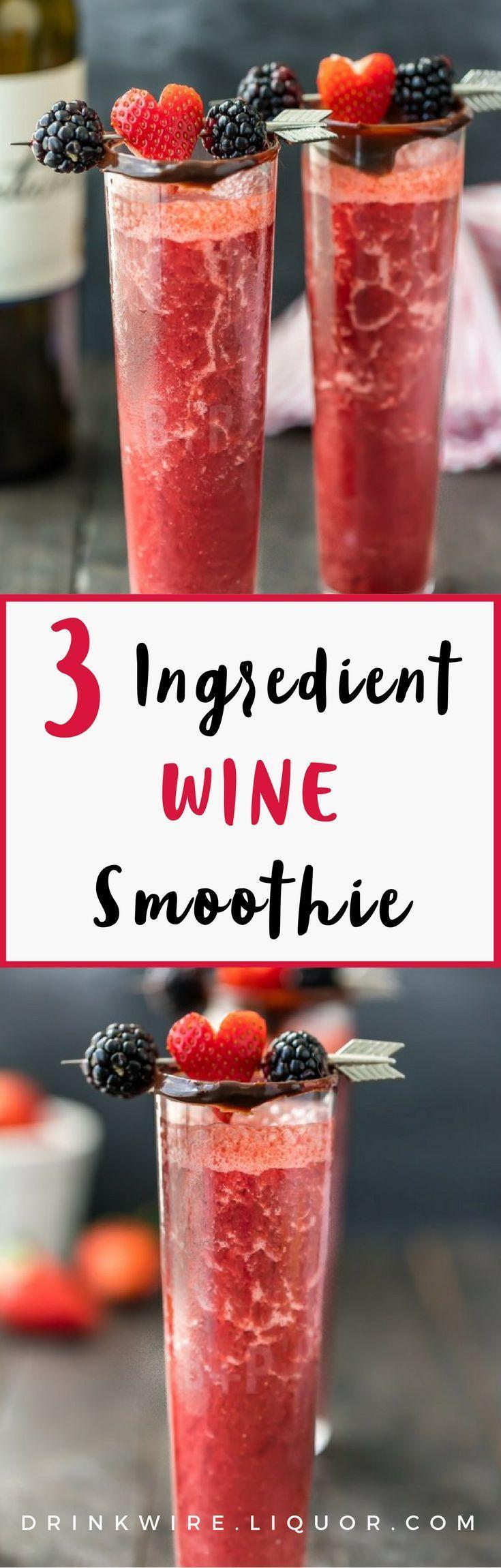 Wedding - 3 Ingredient Chocolate Covered Strawberry Wine Smoothie