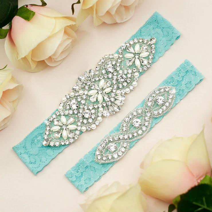زفاف - Blue Garter Wedding, Blue Garter, Blue Bridal Garter, Blue Garter Belt, Garter Belt, Wedding Garter Set, Garter Set, Blue Garter Set, 1