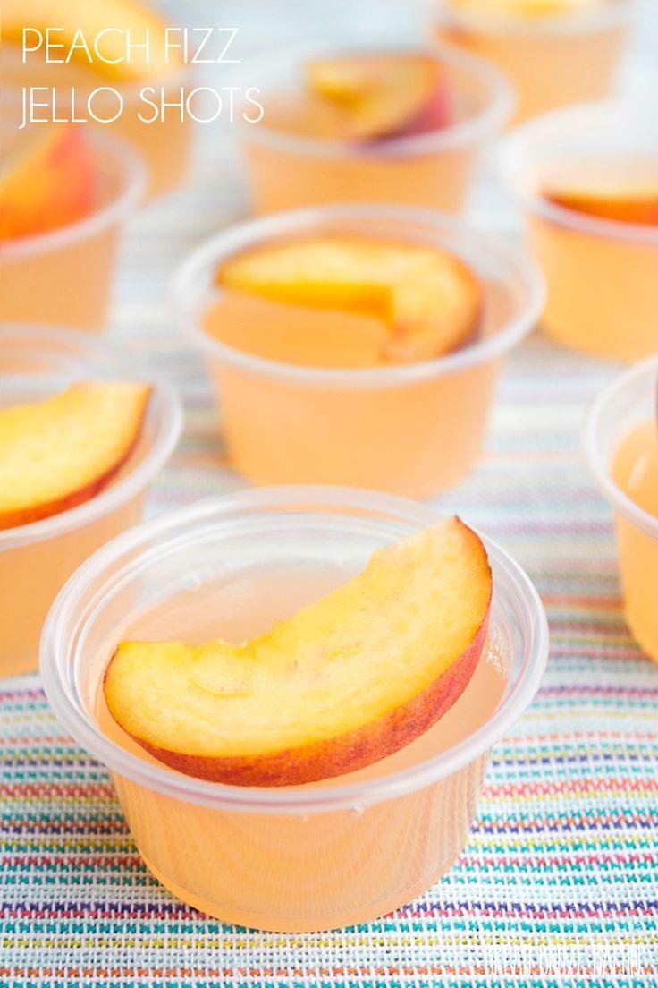 زفاف - Peach Fizz Jello Shots