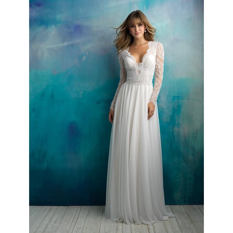 Allure Bridals Spring/Summer 2018 9515 Chapel Train Ivory Sweet V ...
