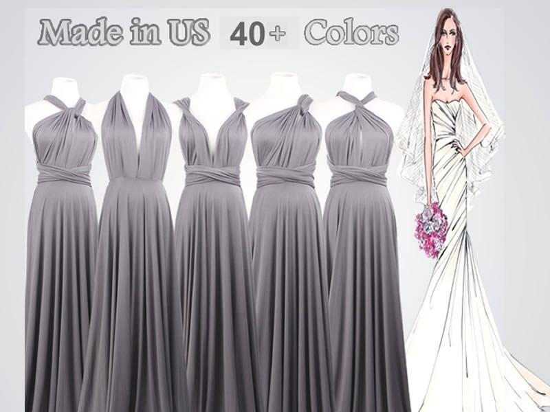 37c2129bf5a Floor-Length Infinity Dress long bridesmaid dress infinity bridesmaid dress  silver grey long infinity dress bridesmaid convertible dress