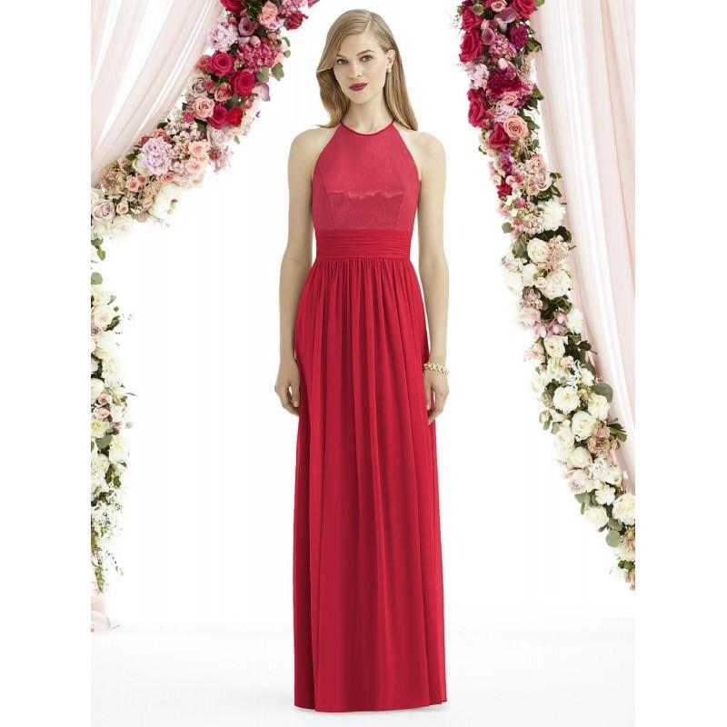 زفاف - After Six 6742 Lux Chiffon over Sequin Bridesmaid Gown - Brand Prom Dresses