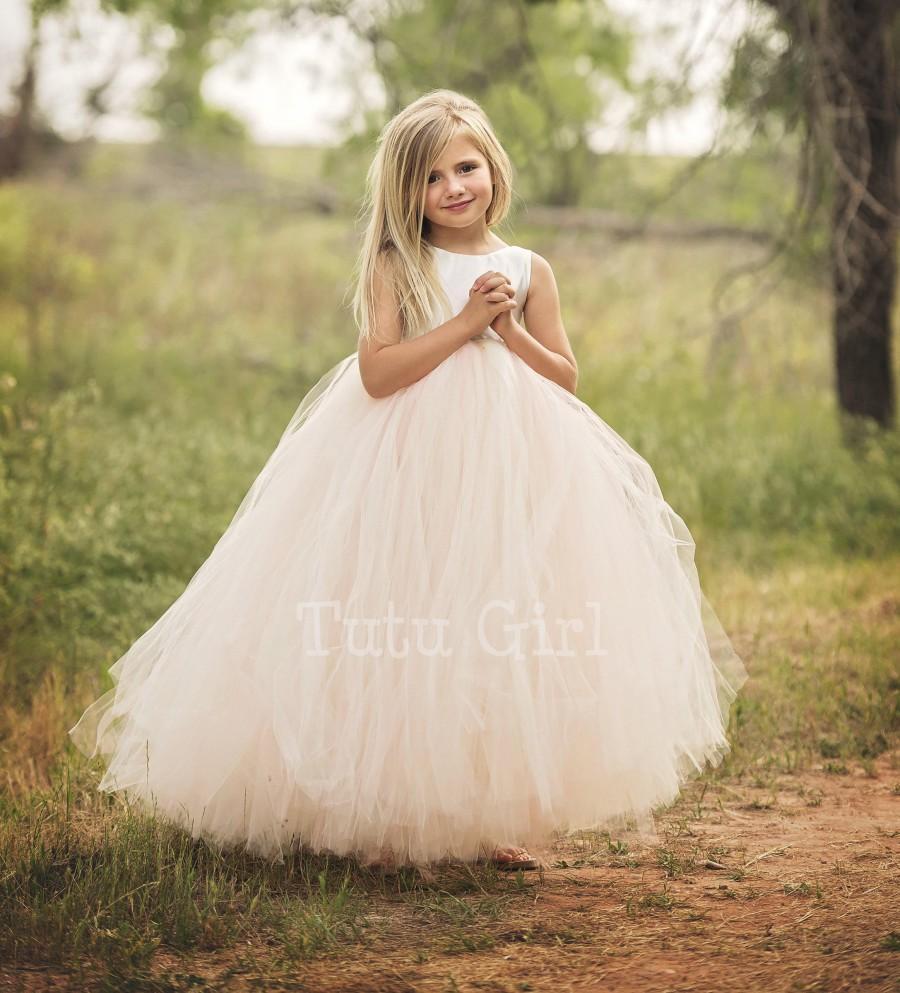 زفاف - Flower Girl Dress, Blush Flower Girl Dress, Blush and Ivory Flower Girl Dress, Blush Tutu Dress