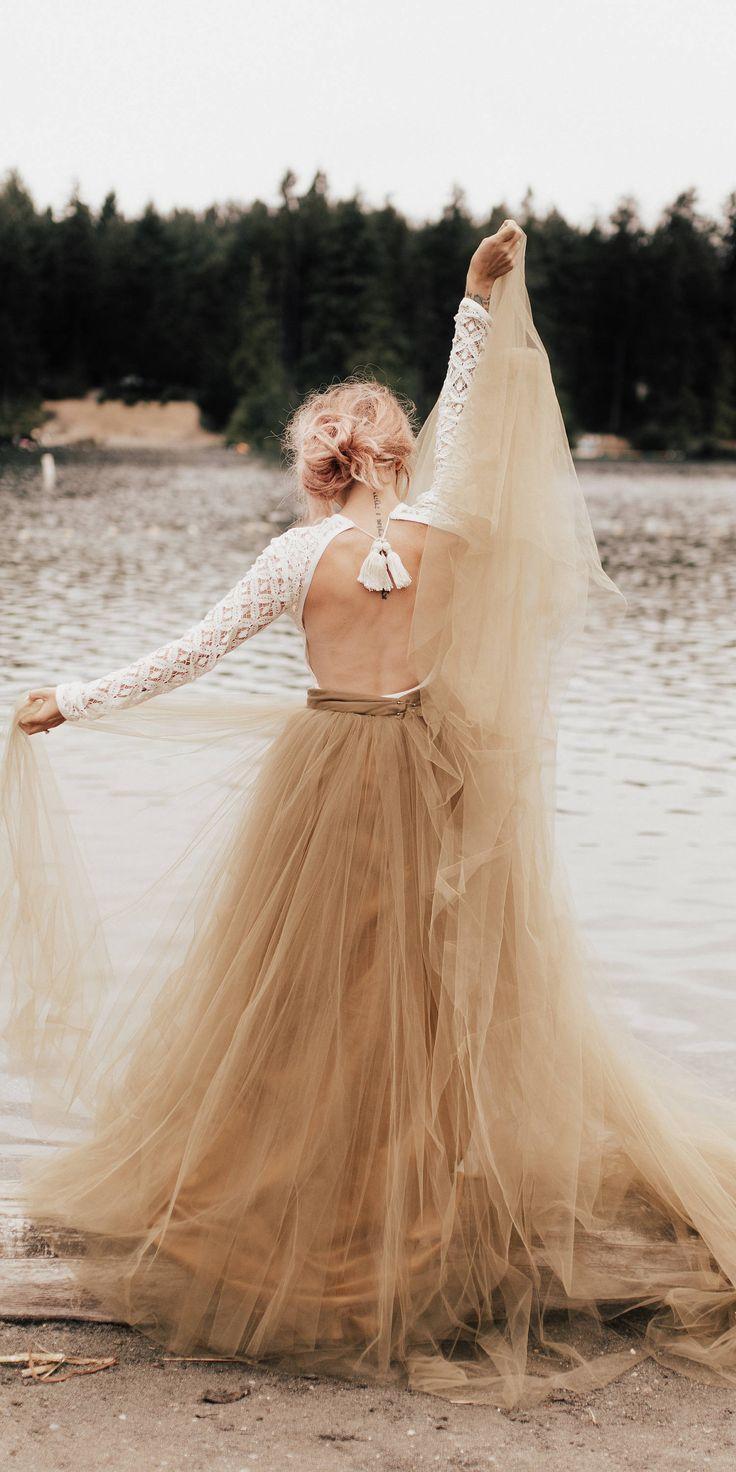 زفاف - Stevie Bodysuit - Wedding Separates - Boho Wedding Dress - Long Sleeve Lace Wedding Dress - Wedding Dress - Backless Wedding Dress