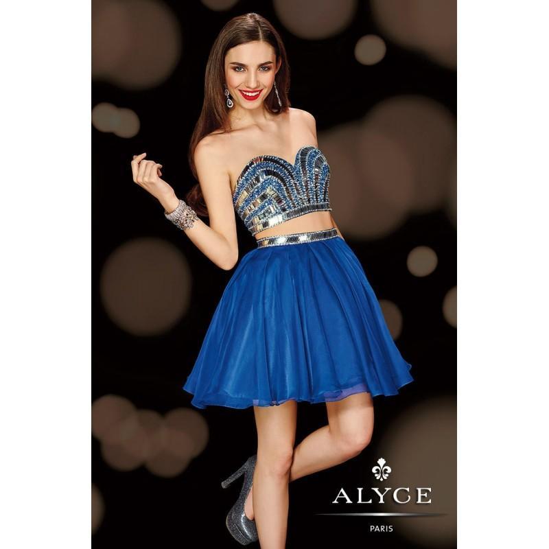 Hochzeit - Sapphire/Silver Alyce Paris Homecoming 4410 - Brand Wedding Store Online