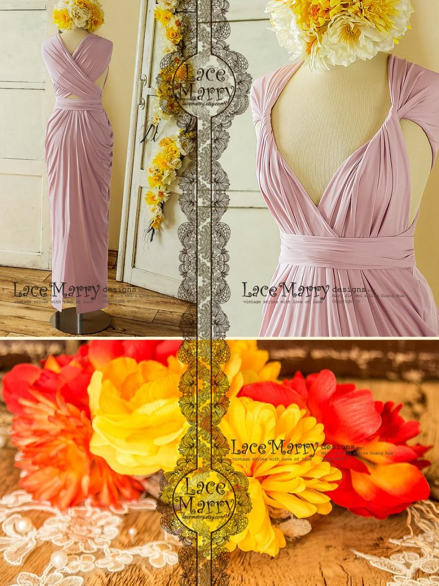 Lavender Pink Convertible Bridesmaid Dress With Twist And Wrap Multiway Top 2826364 Weddbook