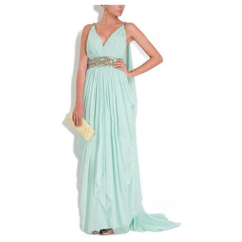 Wedding - Chic Chiffon V-neck Neckline Sheath Prom Dress - overpinks.com