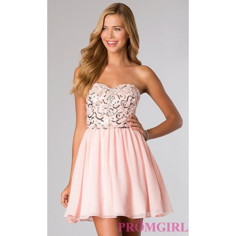 Short Corset Dress With Lace Up Back - Brand Prom Dresses #2826492 ...