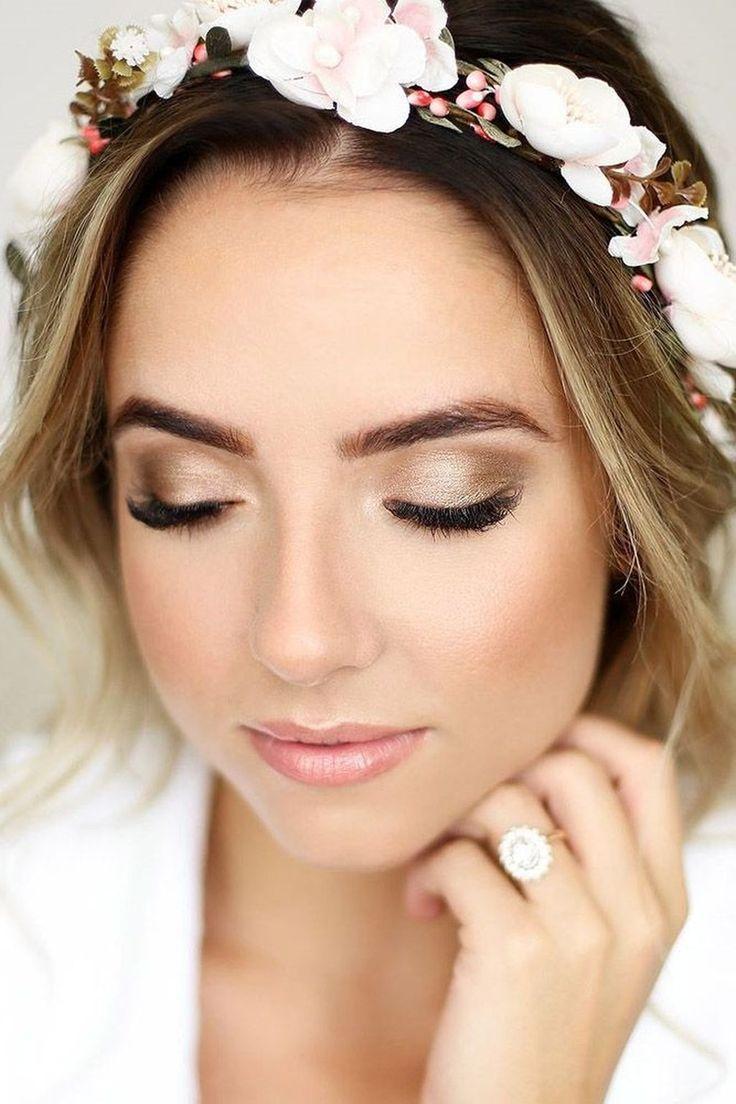 56 Natural Wedding Makeup Ideas To Makes You Look Beautiful