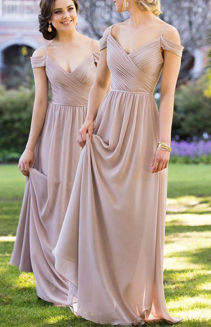 Wedding - Ruffles Grey Bridesmaid Dresses Fancy Long Straps Sleeveless Zipper Dresses WF02G58-840