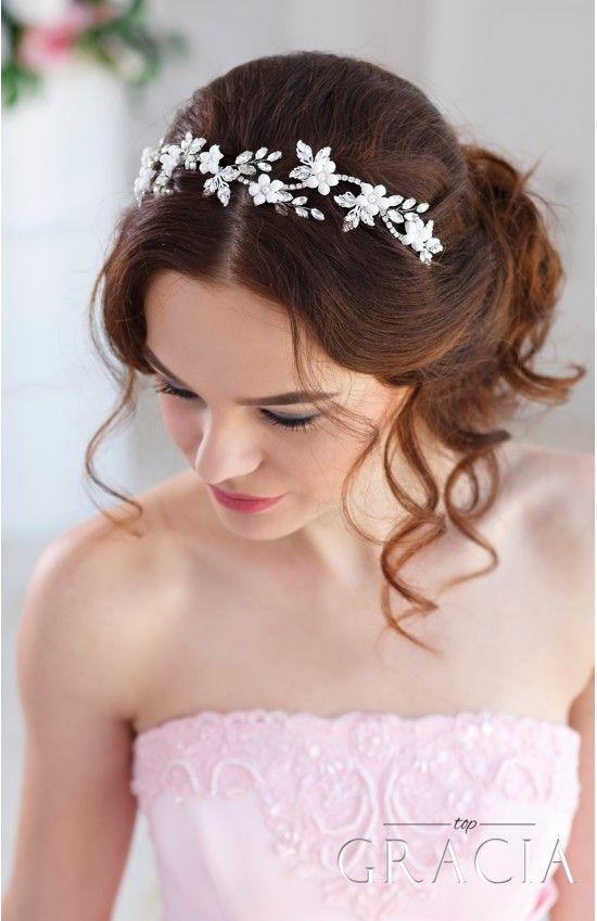 Mariage - DEMETRA Crystal Flower Bridal Hair Piece