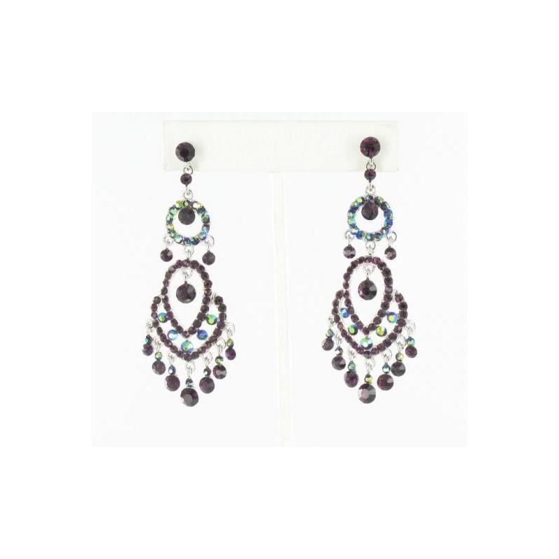 Wedding - Helens Heart Earrings JE-X006403-S-Purple Helen's Heart Earrings - Rich Your Wedding Day