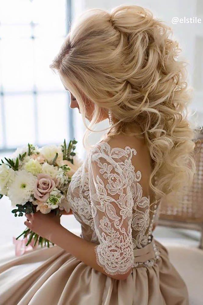 Hochzeit - 42 Half Up Half Down Wedding Hairstyles Ideas