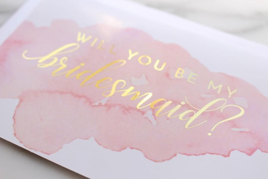 Mariage - Bridesmaid Proposal // Bridesmaid Proposal Cards // Will You Be My Bridesmaid? // Maid of Honor Card // Bridal Party Cards // Gold Foil
