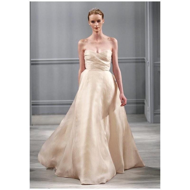 Hochzeit - Monique Lhuillier Ribbon Wedding Dress - The Knot - Formal Bridesmaid Dresses 2018