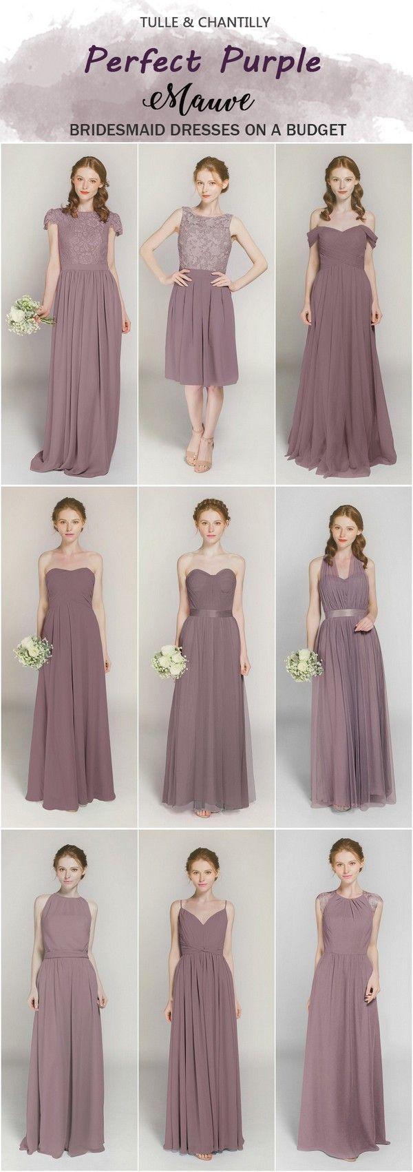 Wedding - Purple Bridesmaid Dresses On Sale