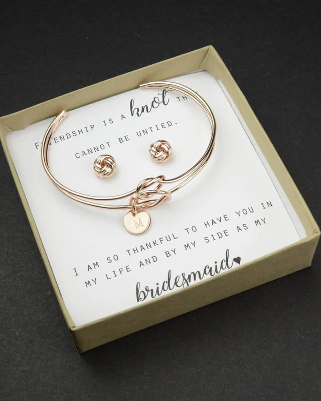 Knot Bracelet Bridesmaid Thank You For Helping Us Tie The Knot