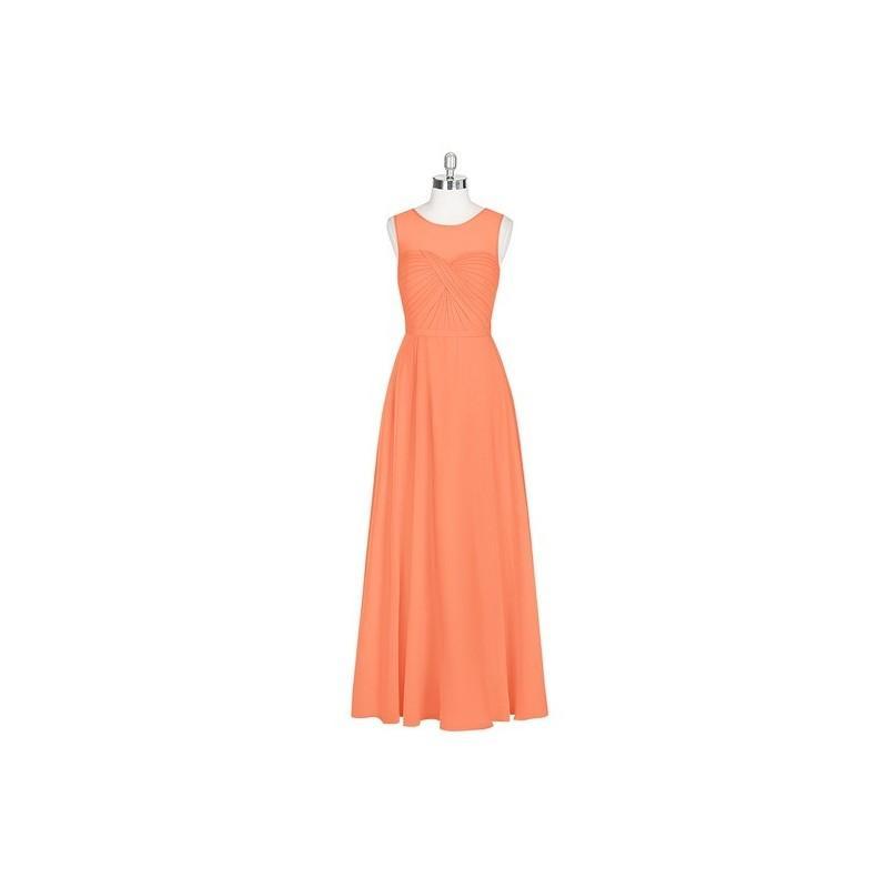 Hochzeit - Papaya Azazie Justine - Illusion Chiffon Floor Length Sweetheart Dress - Charming Bridesmaids Store