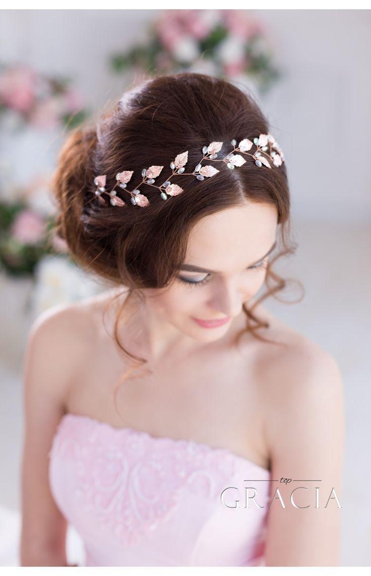 Hochzeit - IRIS Grecian Headpiece Silver Gold Leaf And Freshwater Pearl Bridal Tiara Crown
