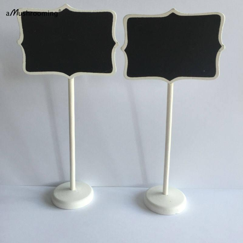 Mariage - 10 White Frame Blackboard Table Card Stands Place Holder Food Label Wedding Party Decorations Baby Shower Rustic Wedding Lolly Buffet Signs
