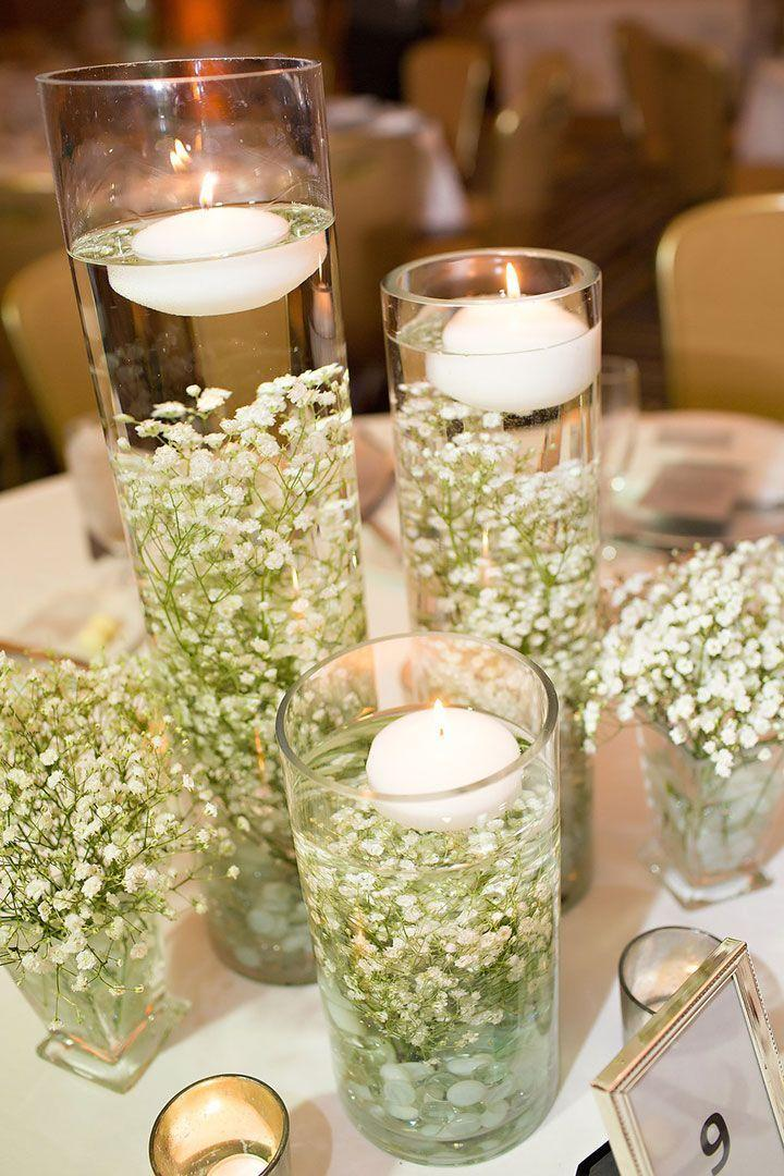 Mariage - Submerged Baby's Breath For A Winter Wedding