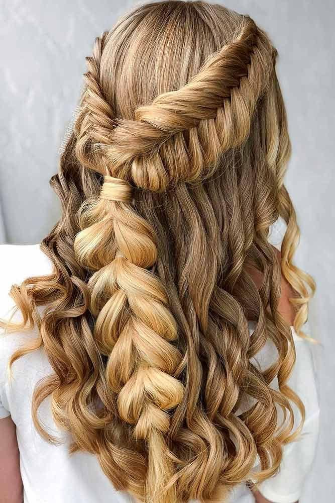 30 Chic Half Up Half Down Bridesmaid Hairstyles 2827249