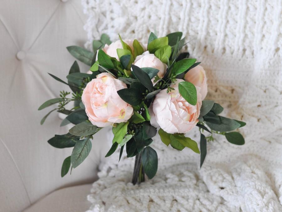 Wedding - Peony Bouquet w/ Lush Eucalyptus Greenery