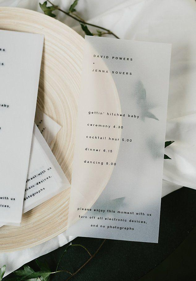 Wedding - David   Jenna: A Minimalist Warehouse Wedding