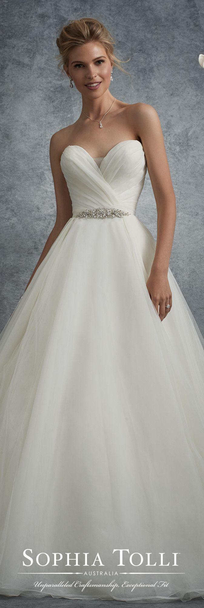 Wedding - Strapless Sweetheart Tulle Full A-line Wedding Dress - Sophia Tolli Y21761B
