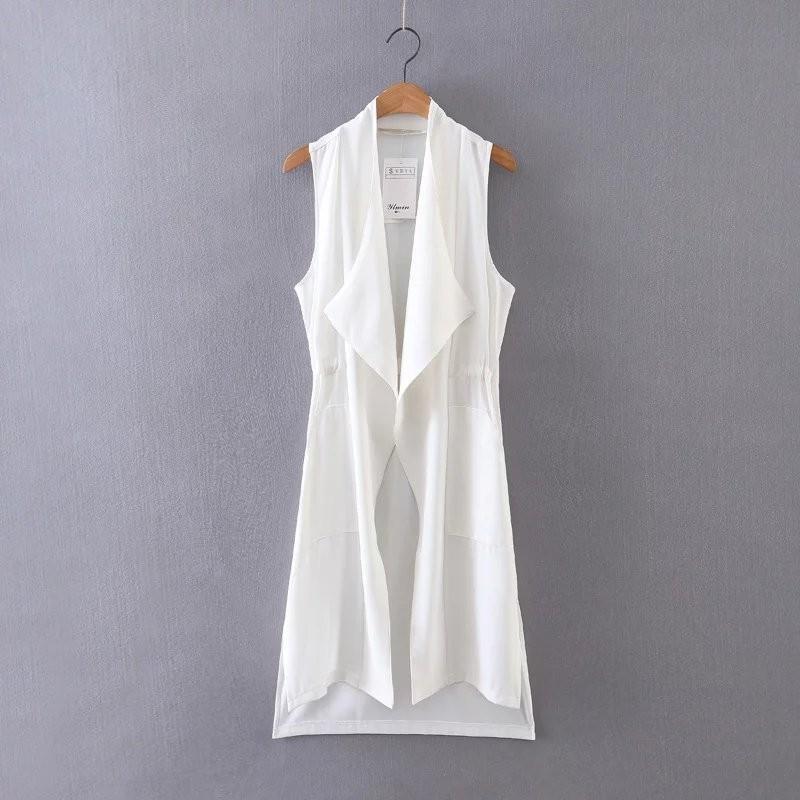 Свадьба - Sleeveless One Color Vest Coat - Lafannie Fashion Shop