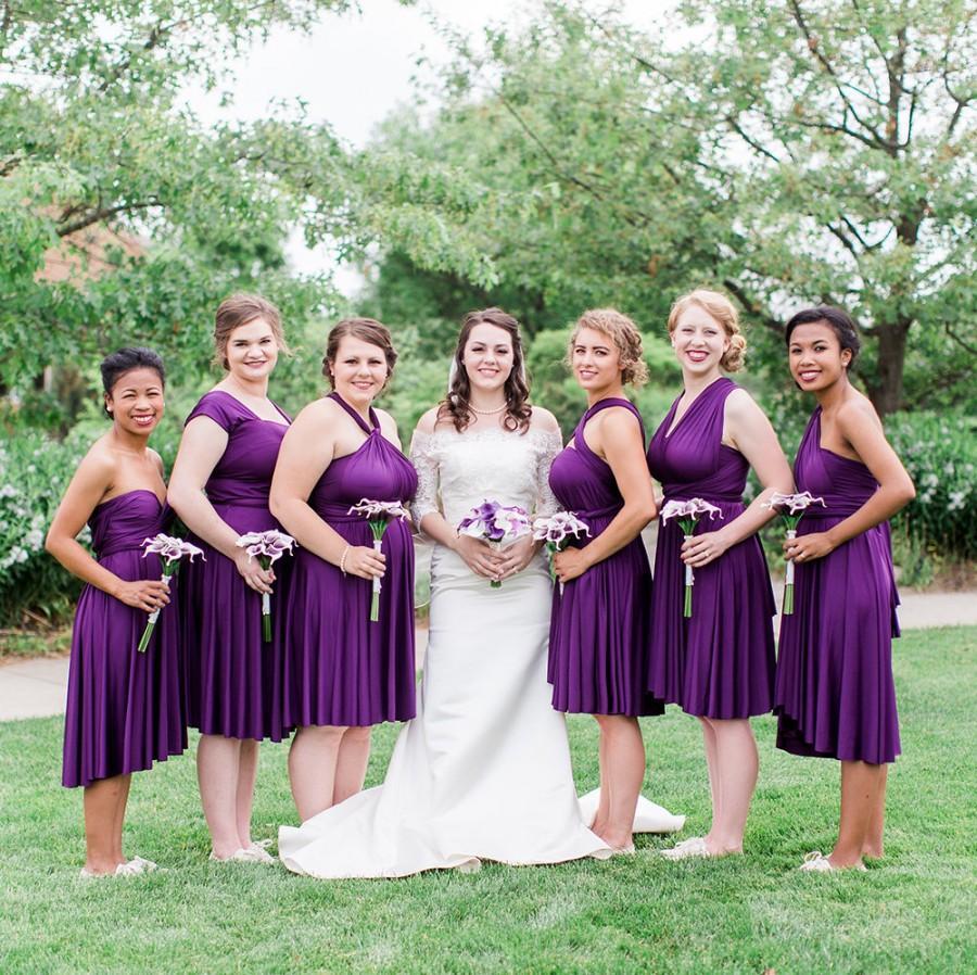 Свадьба - THEDAINTYARD TDY Bridesmaid Short Straight infinity dress / Multiway Dress / convertible wrap dress (Straight hem, Regular size)