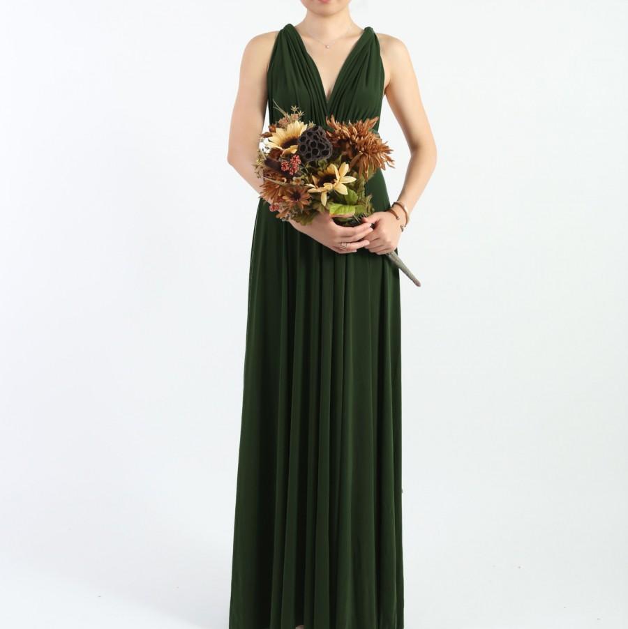 Forest Green LONG Floor Length Ball Gown Infinity Dress Convertible ...
