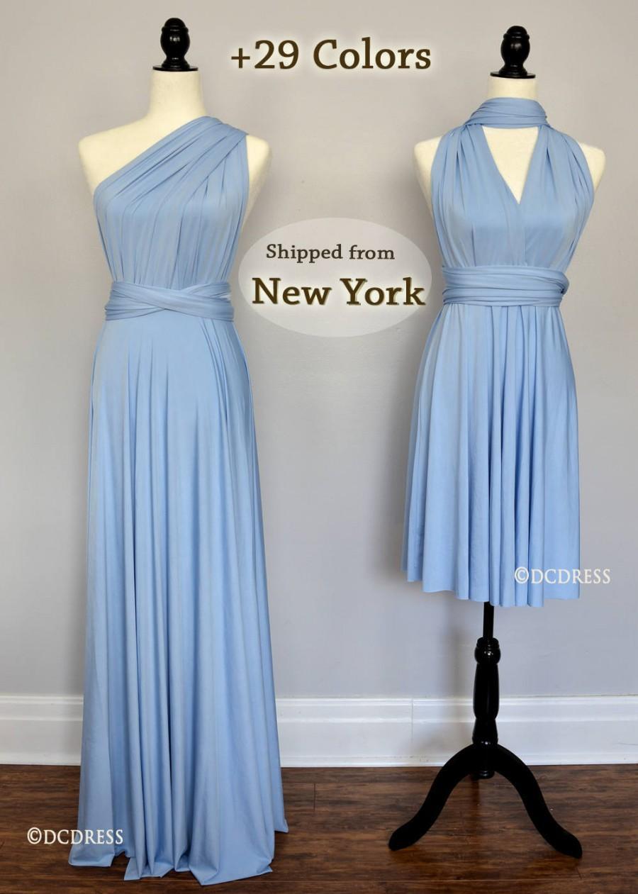 Baby Blue Infinity Bridesmaid Dress, Sky Blue One ...