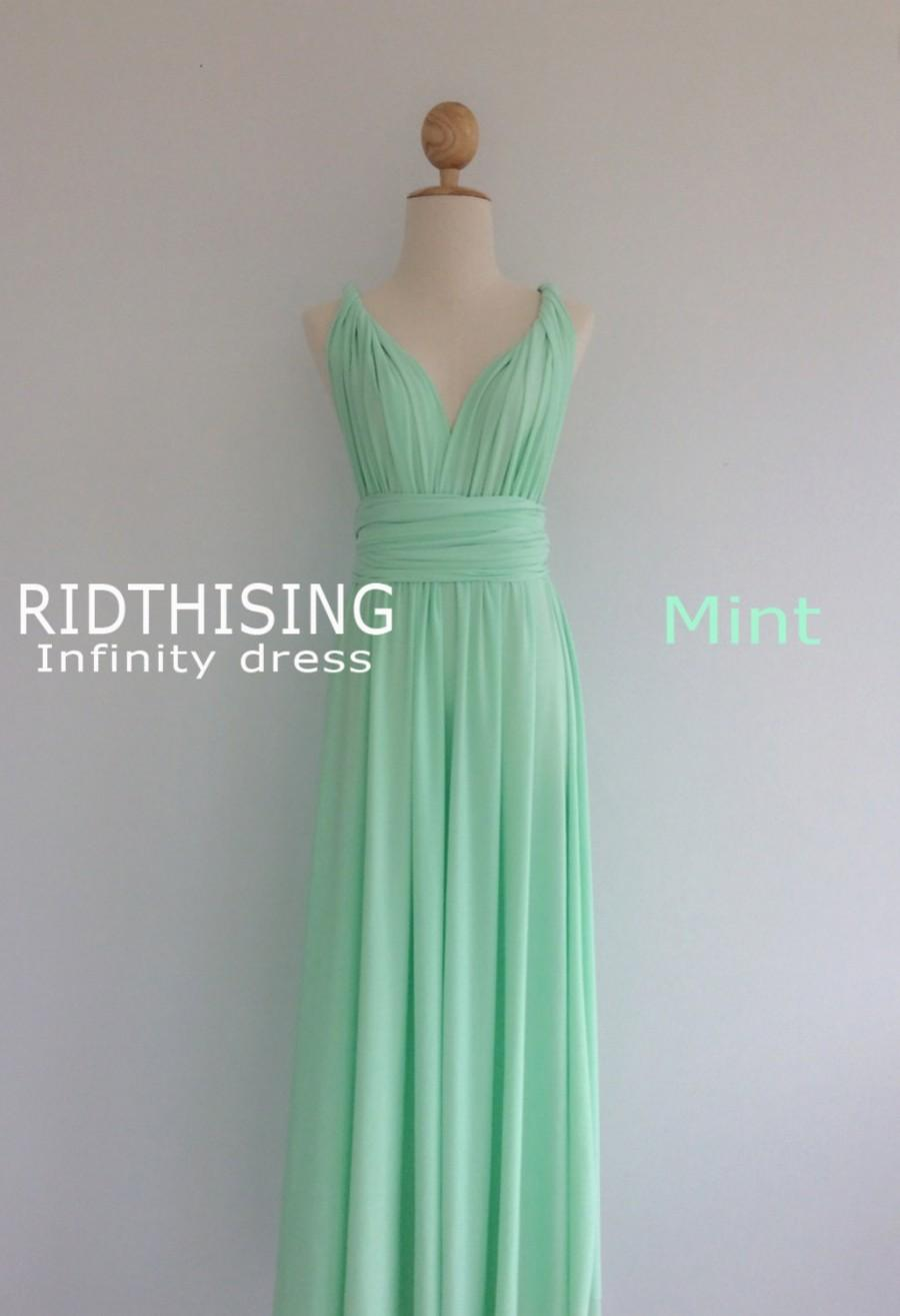 64cc88b68a6 Maxi Mint Infinity Dress Bridesmaid Dress Prom Dress Convertible Dress Wrap  Dress