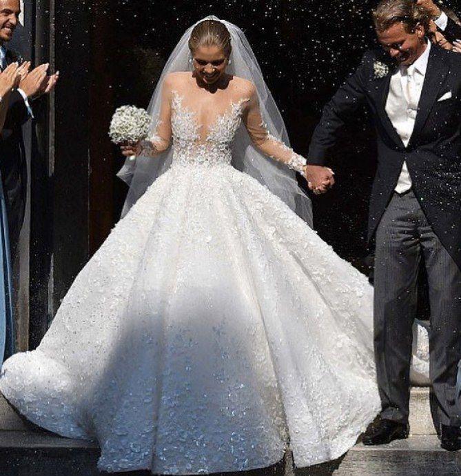 زفاف - L'incroyable Robe À 800 000€ De L'héritière Swarovski ! (Photos)