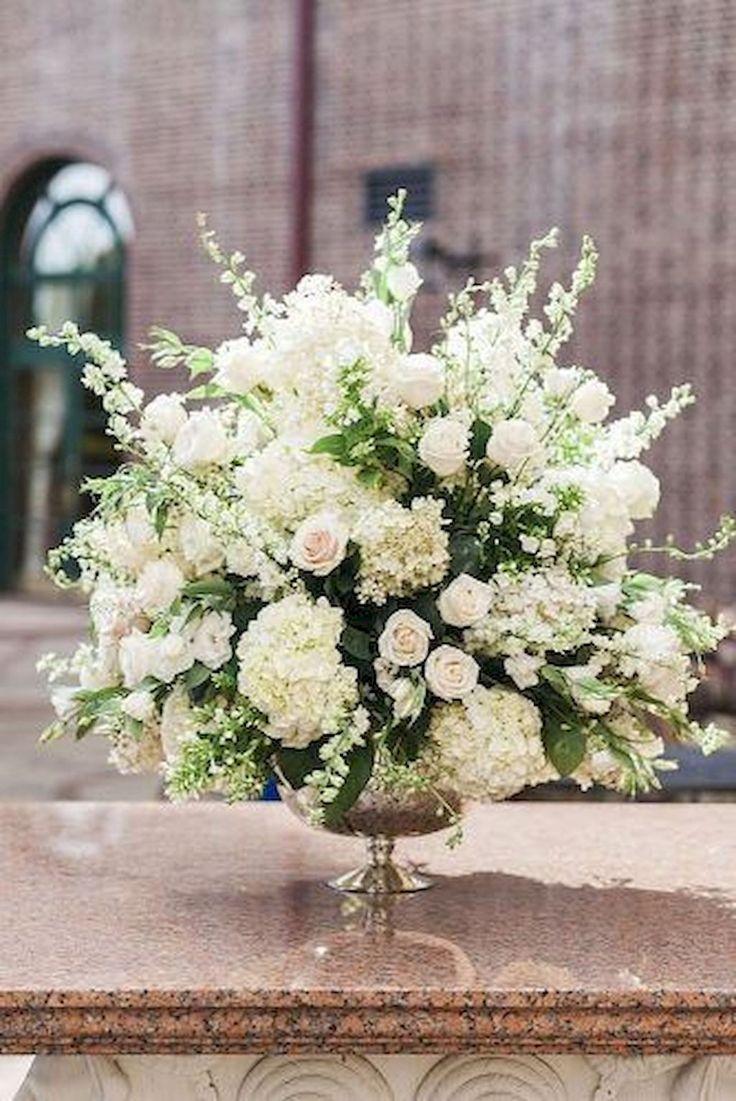 68 Romantic White Flower Centerpiece Decor Ideas 2827851 Weddbook