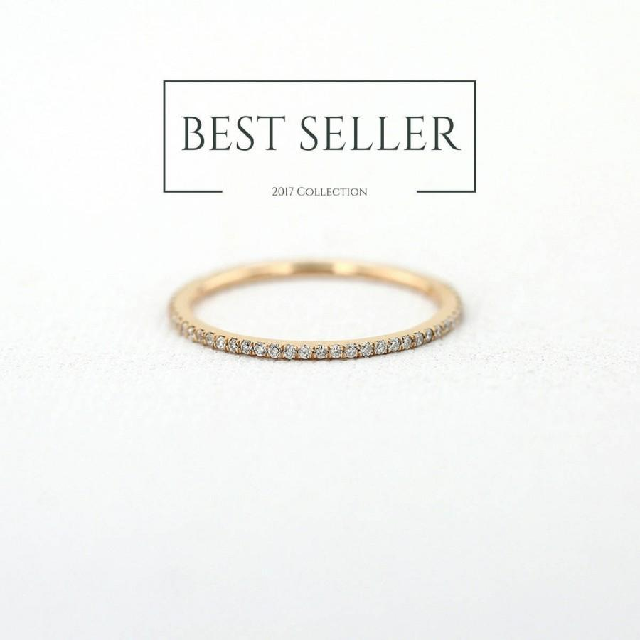 Hochzeit - Diamond Eternity Ring in 14k Rose Gold / Full Eternity Ring / Mothers Day Gift