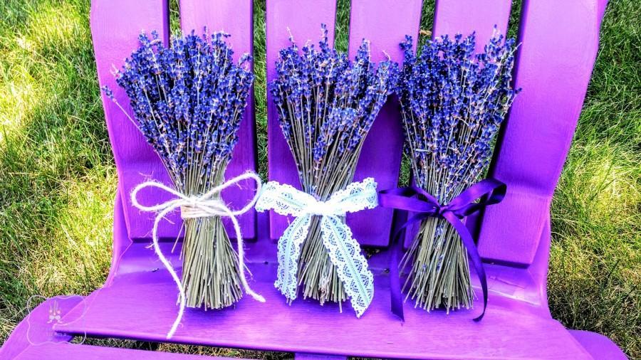 Свадьба - English Lavender 3 Petite bundles or 3 Medium bundles. Lavender Favors, Small Table arrangements.